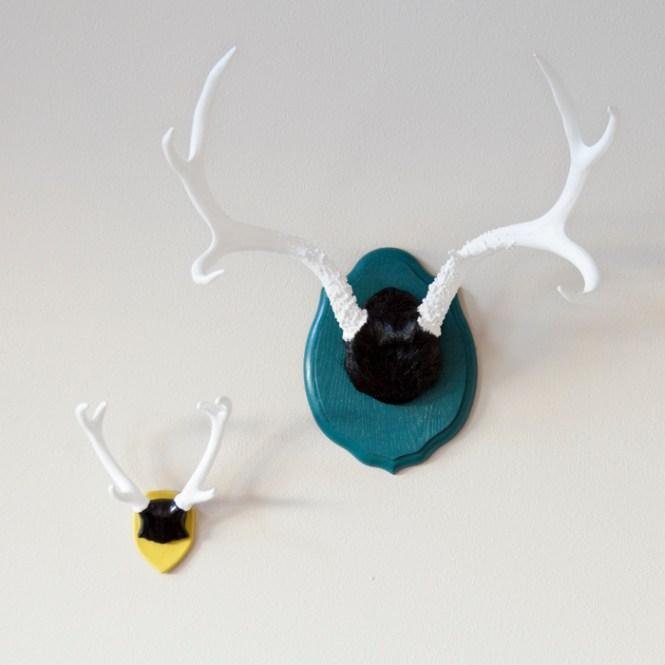 Modern Painted Antlers
