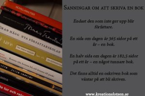 Sanningar om bokskrivande