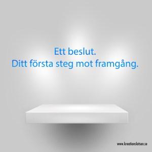 Kreationslotsen, Beslut, Jeanette Niemi, Skrivarkurs