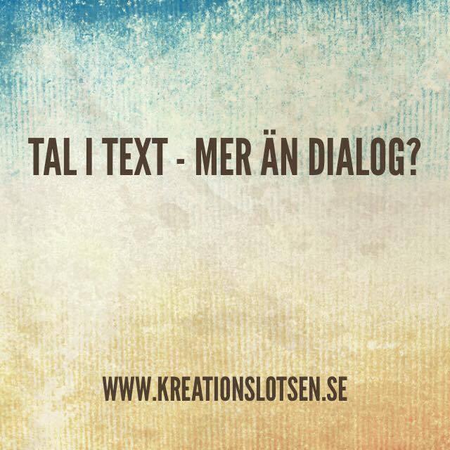 Tal i text