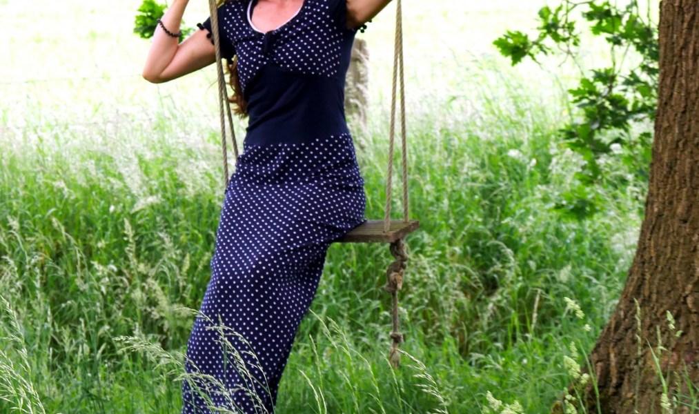 bodenlanges Sommerkleid aus luftigem Viscose-Feinkrepp von Stoffolino