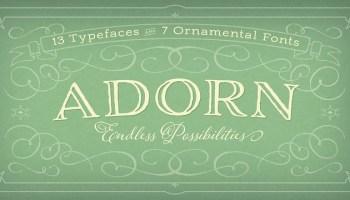 Adorn Smooth font - Kreativ Font