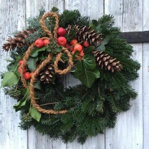 """Türkranz DIY Set """"Große natürliche Weihnacht"""""""