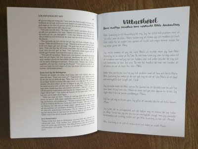 Svensk bibel med breda marginaler