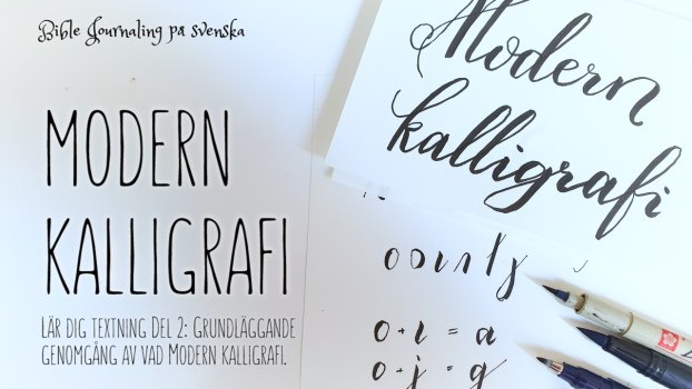 Lär dig modern kalligrafi