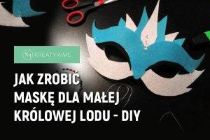 Maska karnawałowa dla dziecka - szablon