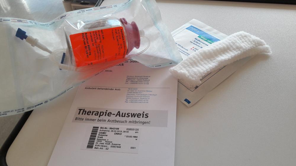 Chemotherapie, die Erste… Mit Liebe heilen