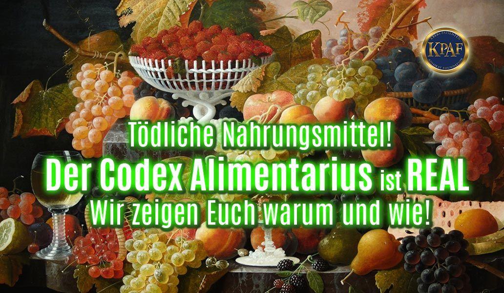 Codex Alimantarius Aufgedeckt! Nachweis anhand offizieller Regelungen in Deutschland!