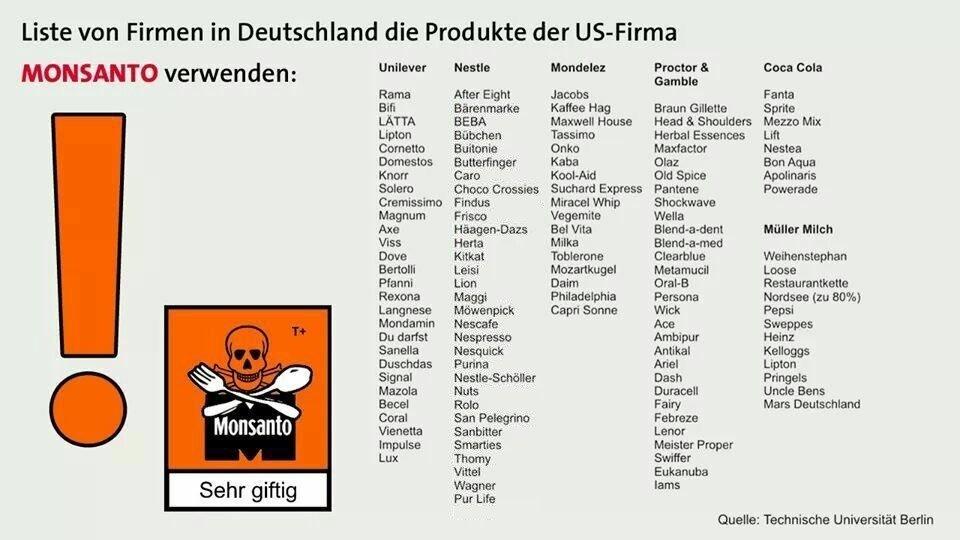 US-Giftmischer Monsanto: Produkte, die auf dieser Liste stehen, solltest du auf keinen Fall kaufen!