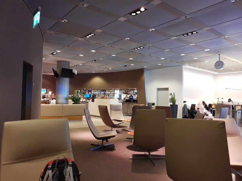 Amex in die Lounge