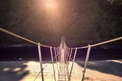 New Zealand - Steward Island 001 Swinging Bridge