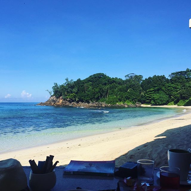 Breakfast in paradise - what an amazing place #seychelles