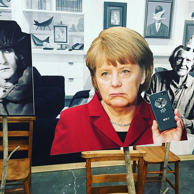 Angela Merkel, a piece of art #goshkamacuga #newmuseum #angelamerkel