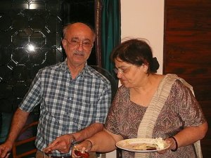 These were our hosts up in Lonavla, Plum and Memaz.  They are like our grandparents away from home, and they treat us like family.  We love these two very much.