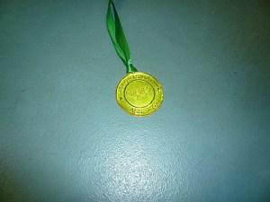 Gigi's pic of her medal.