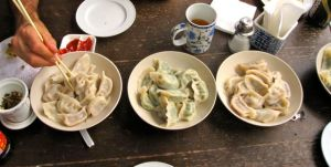 Our favorite new meal: Chinese dumplings!