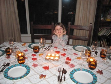 Gigi set the table. She did such a great job making it look special.