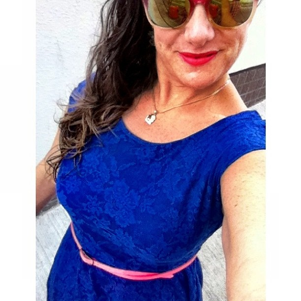 Speaking of blue....here's my take on lace--a summer dress from Cotton On.