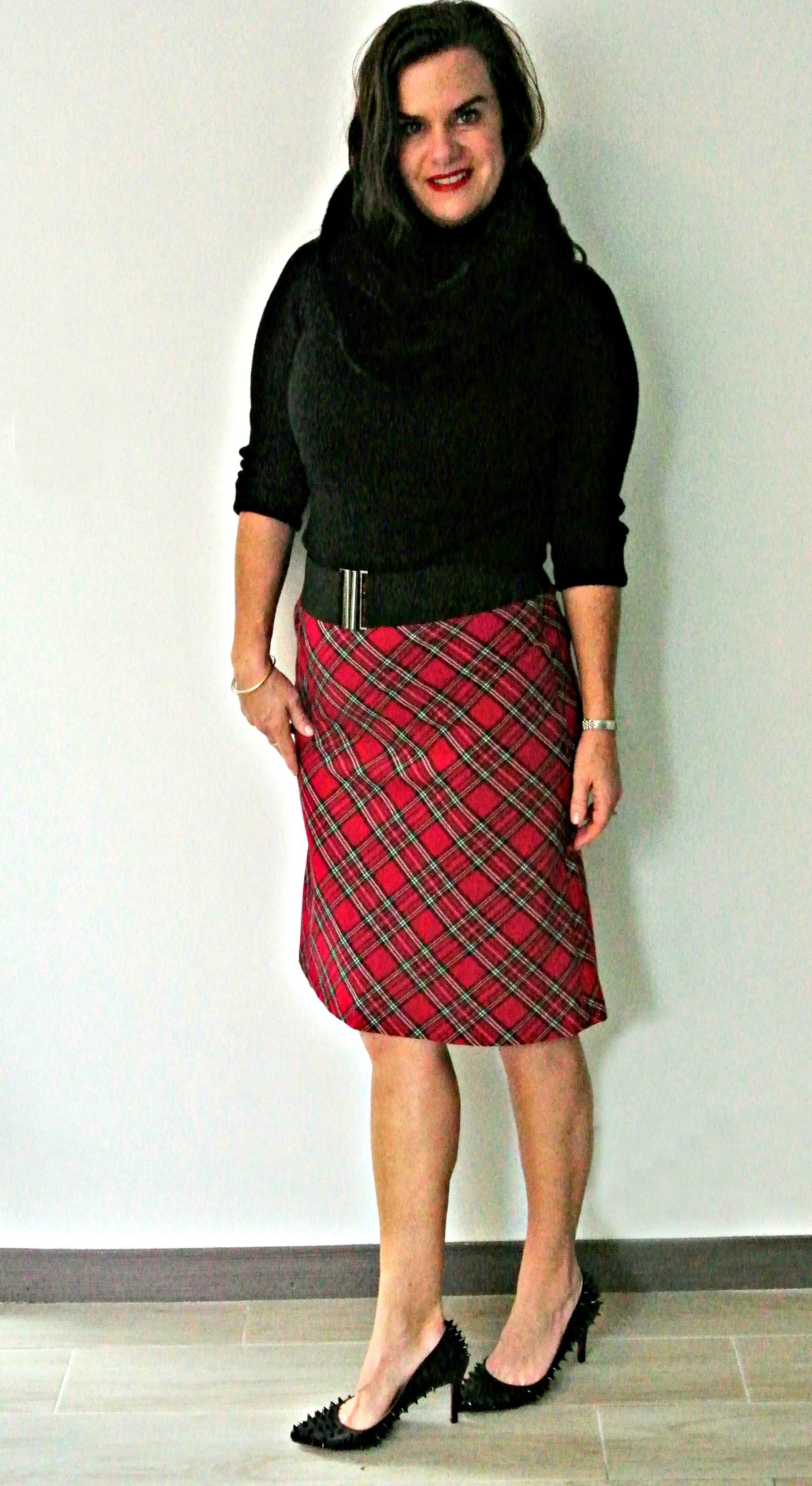 Christmas Plaid Skirt
