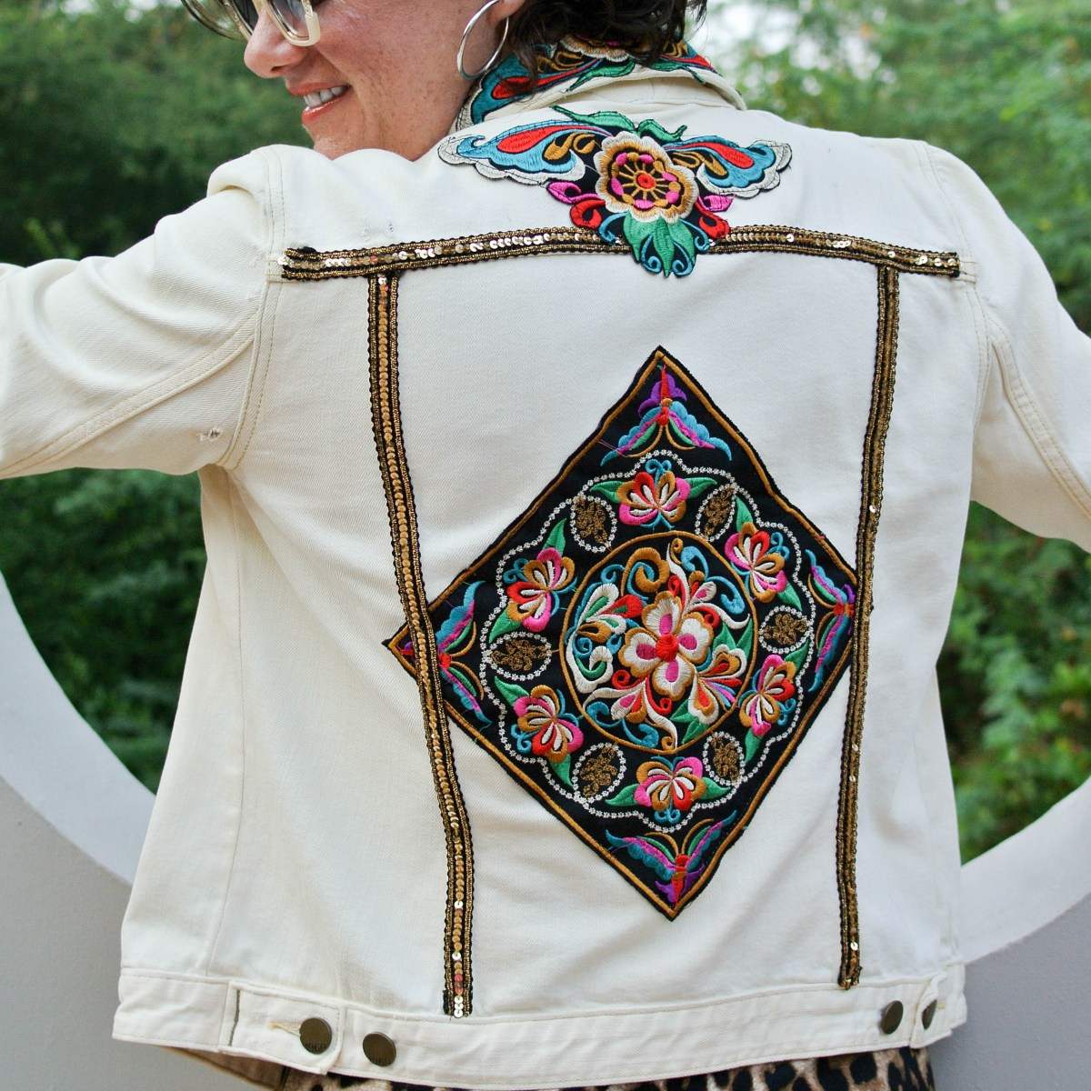 DIY Embellished Jean Jacket