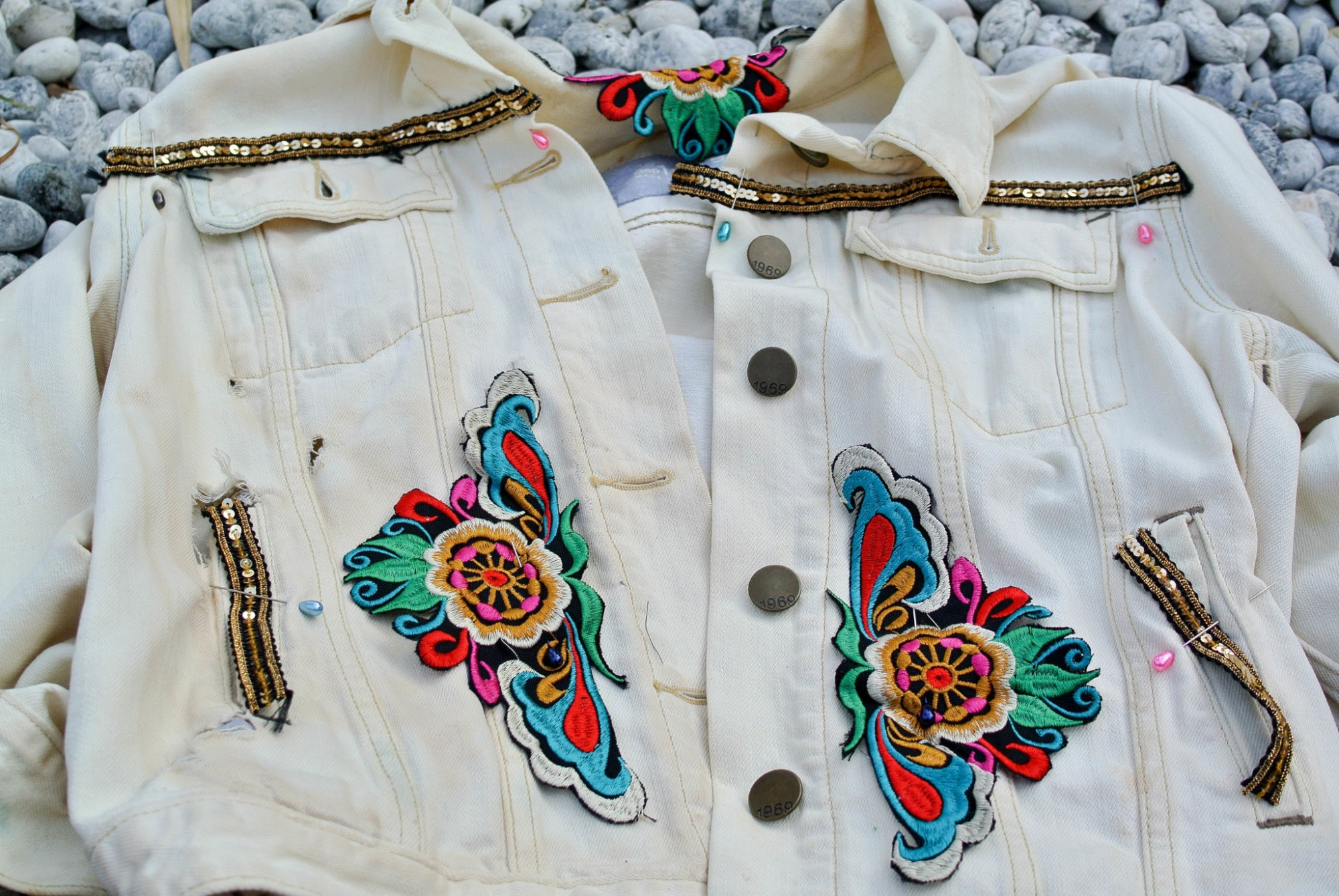Embellish Jacket DIY Pin On