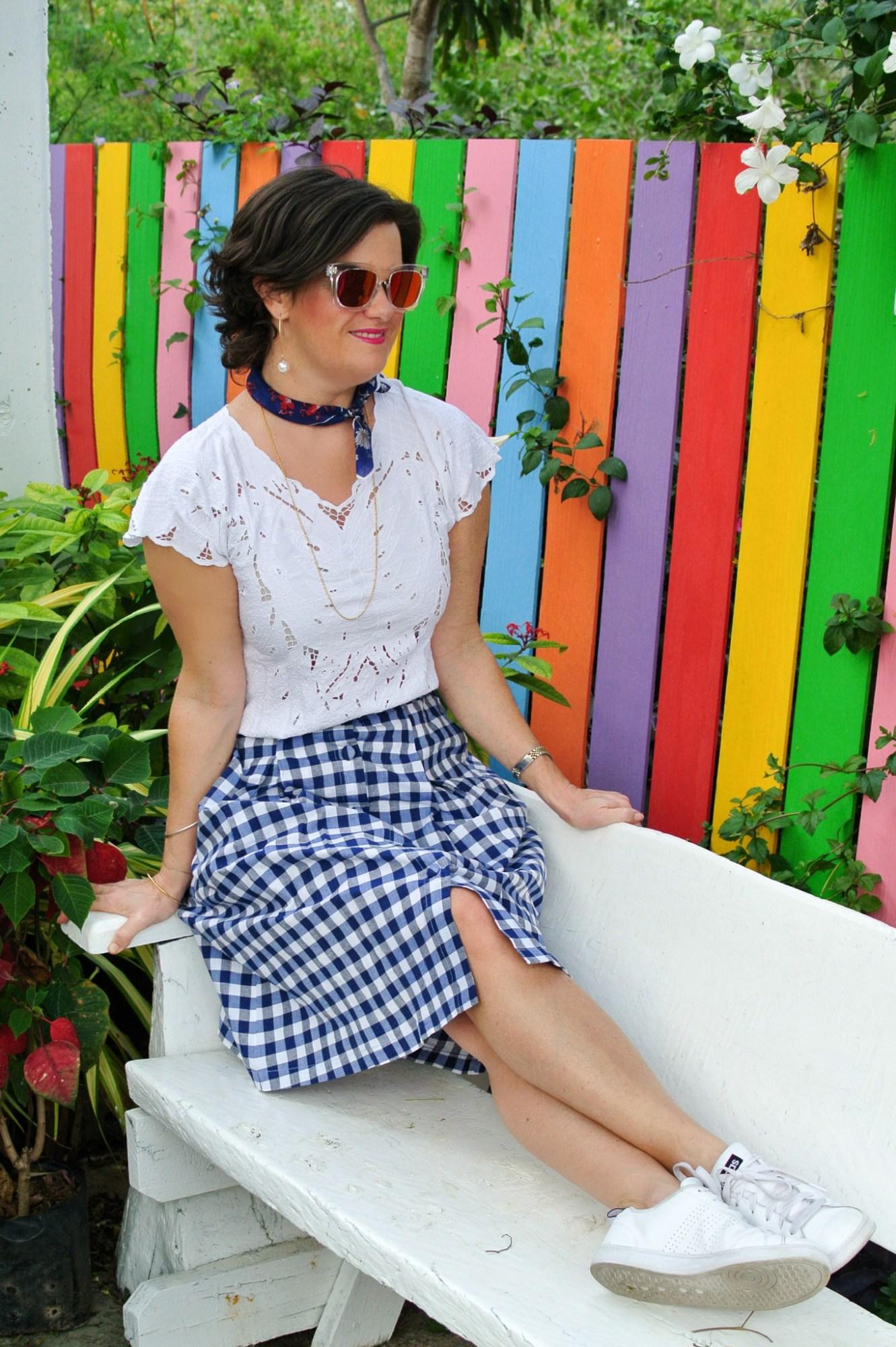 Gingham Skirt 2