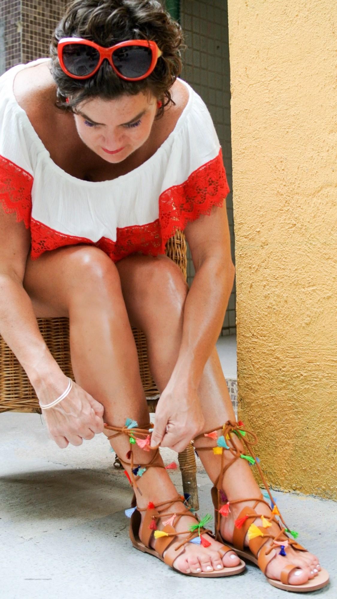 DIY Tassel Sandals 8