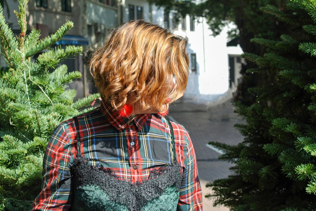 Christmas Plaid Shirt Layered