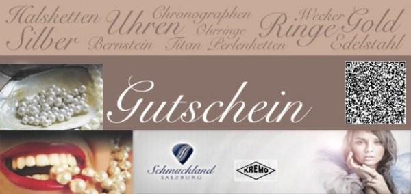 Gutschein KREMO Juwelier Salzburg Exclusiver Tantal Schmuck, Uhren,Eheringe und Reparatur Reinhard Maria Damisch Salzburg Land Österreich