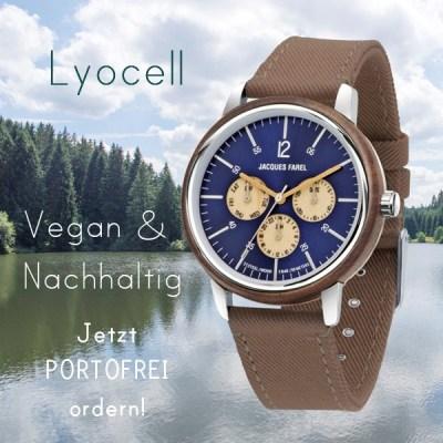 Jacques Farel hayfield CO2 Neutrale Uhren,Juwelier Kremo Salzburg Ökouhr Kremo, Ökoleder, Vegane Uhrenbänder Neutorstrasse 16
