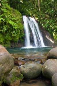 Waterfall on Guadeloupe island