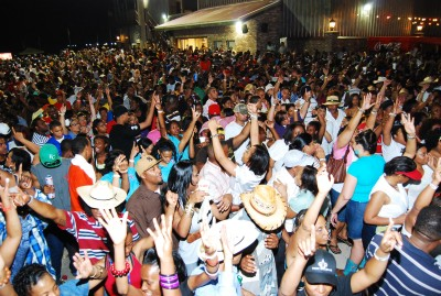 """Crowds at """"Zydeco Extravaganza"""" festival."""