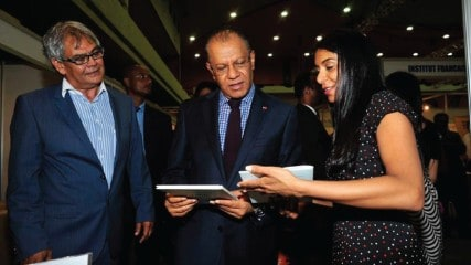 Priya Hein and Prime Minister of Mauritius