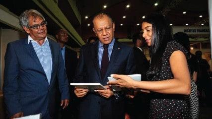 Priya Hein and Prime Minister of Mauritius