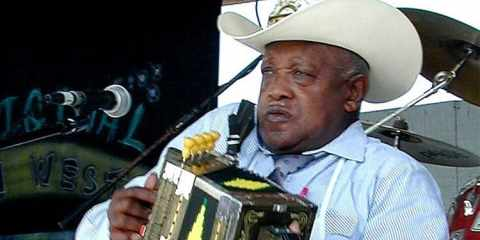 Boozoo Chavis at the 2000 Original Southwest Zydeco Festival, on the main stag