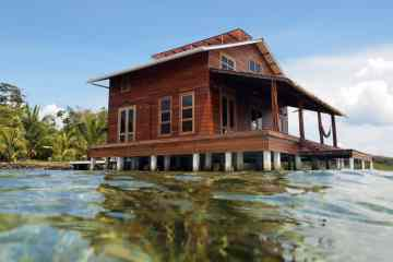tropical stilt house