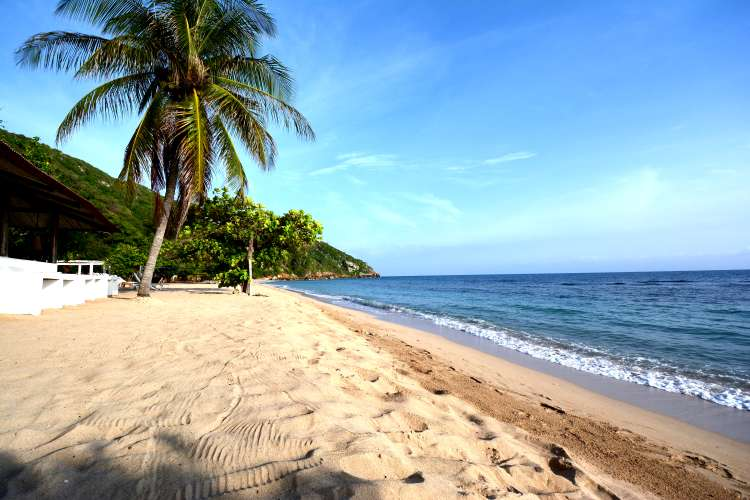 Beach at the Cormier Plage resort, the only beach hotel on the north coast of Haiti.
