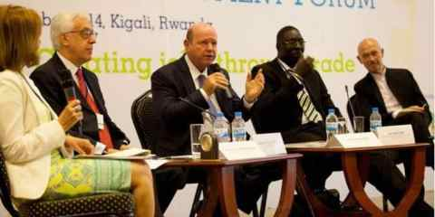 World Export Development Forum meeting in Rwanda hears Seychelles Minister St.Ange make case for Africa
