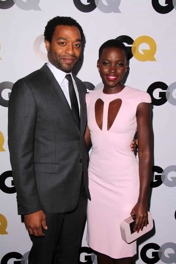 "Chiwetel Ejiofor and Lupita Nyong'o at the GQ ""Men Of The Year"" Party at Wilshire Ebell in Los Angeles, CA. Photo: Helga Esteb"