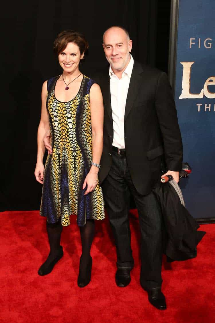 "Elizabeth Vargas and Marc Cohn attend the premiere of ""Les Miserables"" in New York"