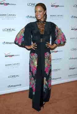 Tyra Banks at the Clive Davis Pre-Grammy Awards Party