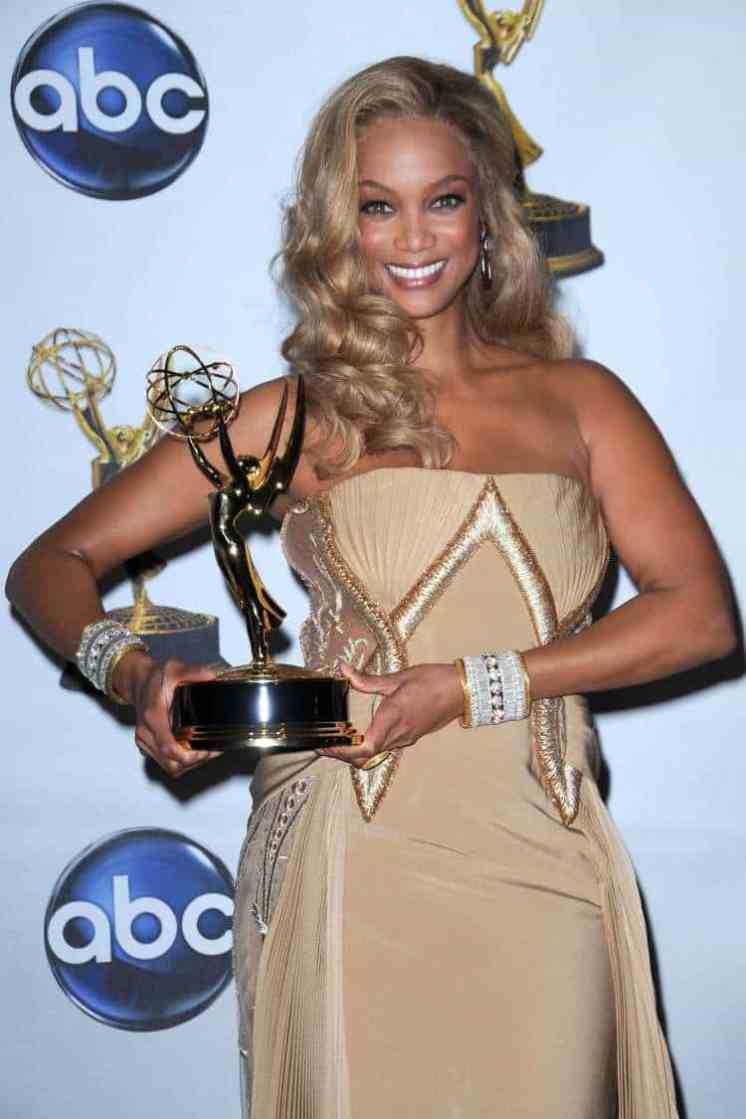 Tyra Banks in the press room at the 35th Annual Daytime Emmy Awards