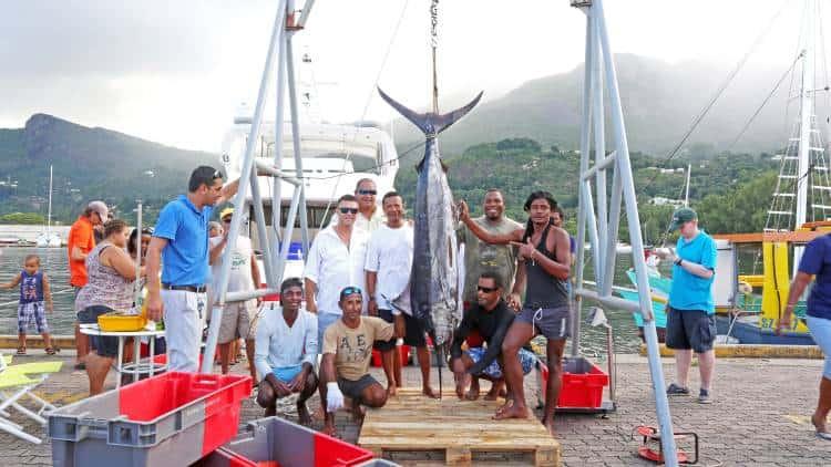 An impressive catch during an Oceana fishing Tournament, Seychelles