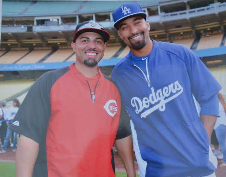 "Xavier Paul and Matthew Ryan ""Matt"" Kemp, baseball outfielder for the Atlanta Braves"