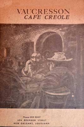 Cover of the Original menu of Vaucresson Café Creole