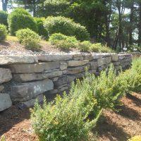 Fieldstone Boulder Wall