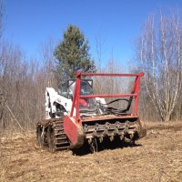 Fecon Bullhog Attachment on Bobcat on s330 Skidsteer