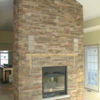 Two Sided Cultured Stone Fireplace