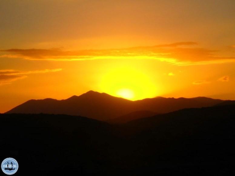 Mooie zonsondergang Kreta