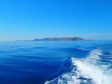 Uitzicht op Dia eiland vanaf Zorbas
